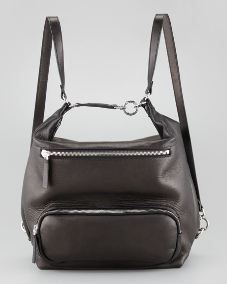 Lambskin Backpack, Black