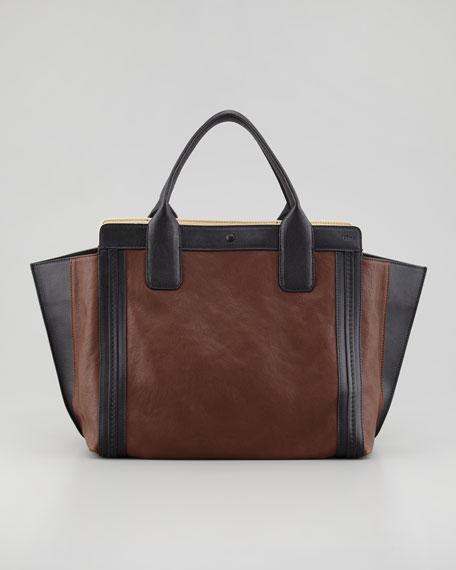 Alison Small Tote Bag, Brown