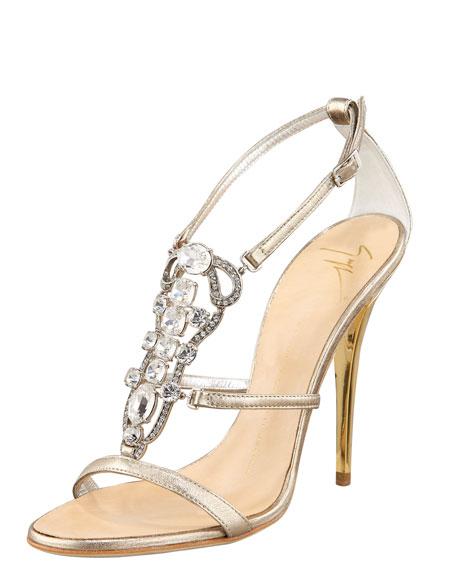 Jeweled Strappy Sandal