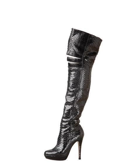 Python Over-the-Knee Boot