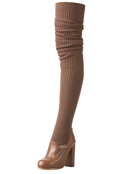 Knit Thigh-High Boot