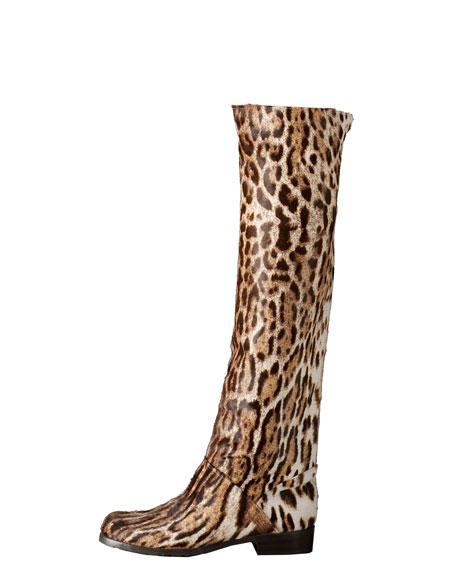 a837b293d260 Stuart Weitzman Leopard-Print Calf Hair Boot