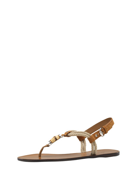 Miaui Thong Sandal, Camel Brown