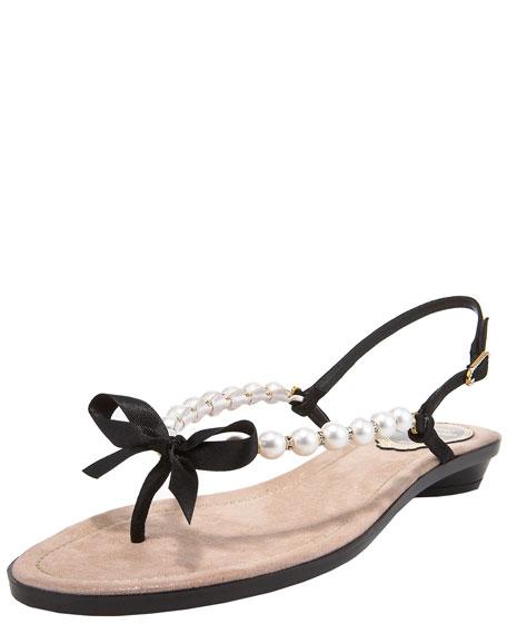 Pearl Thong Sandal