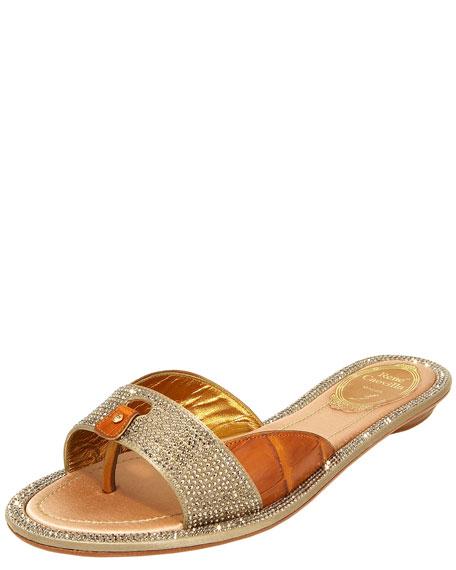 Crystal Slide Thong Sandal