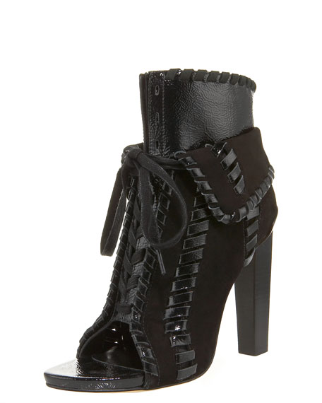 Freja Whipstitched Fold-Over Bootie