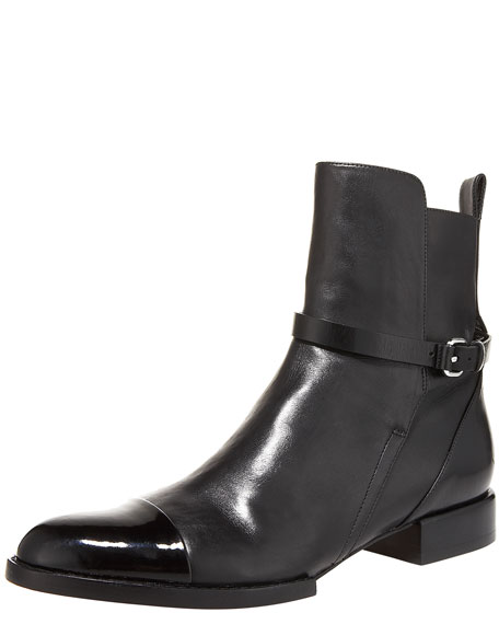 Kat Cap-Toe Ankle Boot