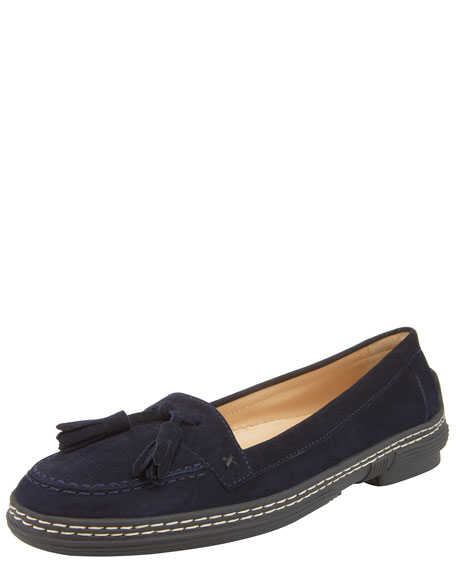 Ford Suede Driving Loafer, Navy