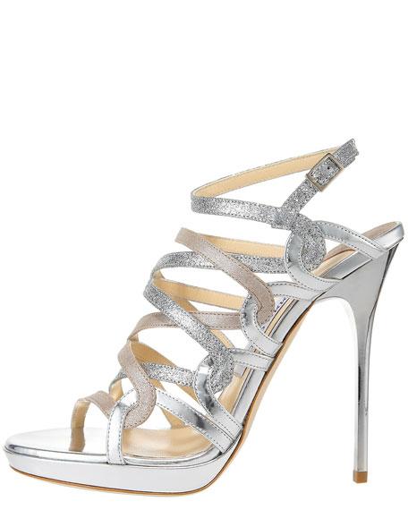 323e3ac70bbf Jimmy Choo Tri-Shine Strappy Platform Sandal