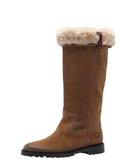 Saint Moritz High Flat Boot