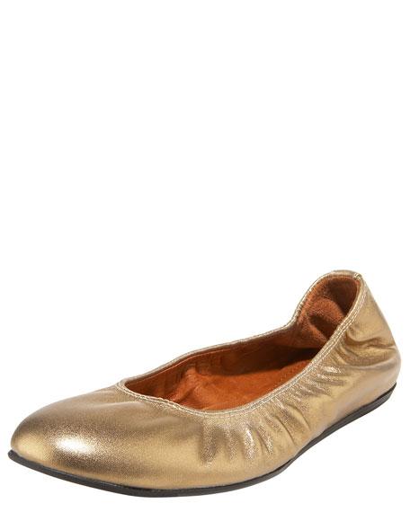 Metallic Ballerina Flat, Gold
