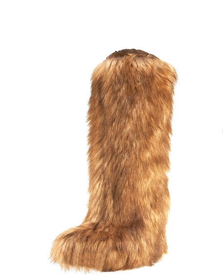 Hidden Wedge Fur Boot