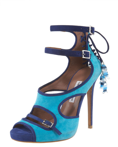Fish-Charm Corseted Strappy Sandal