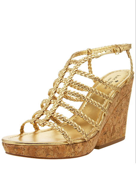 felix metallic cork wedge