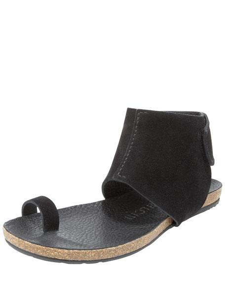 Ankle-Cuffed Flat Sandal