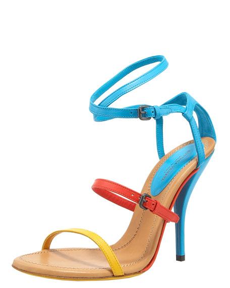 Colorblock Strappy Sandal
