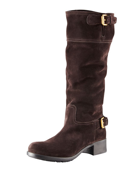 Tall Buckle Riding Boot