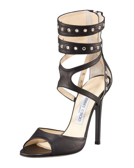 Grommet Ankle-Wrap Sandal