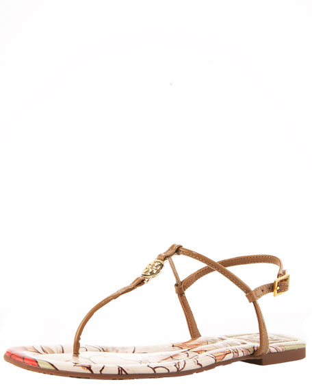 Emmy Print-Insole Thong Sandal