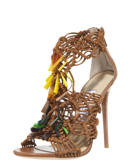 Iris Beaded Crocheted Sandal