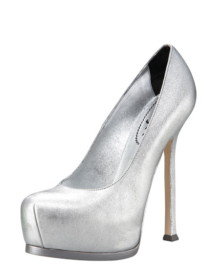 Metallic Leather Tribute Pump