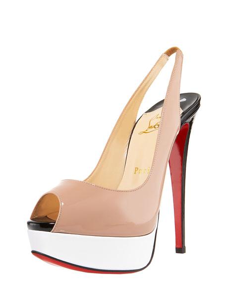 huge selection of 96213 16438 Lady Peep-Toe Colorblock Slingback