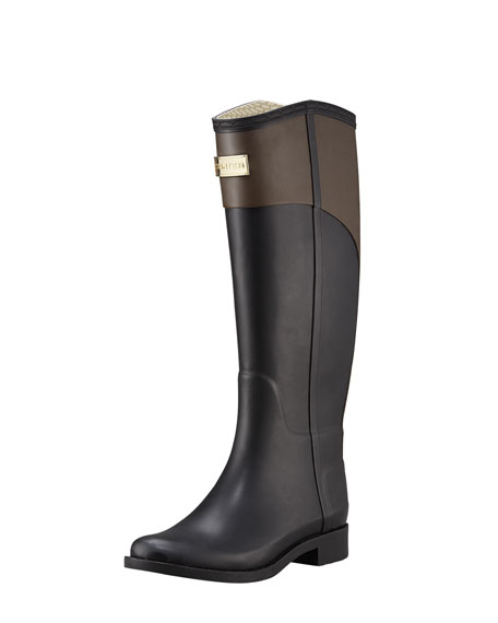 Two-Tone PVC Riding Boot