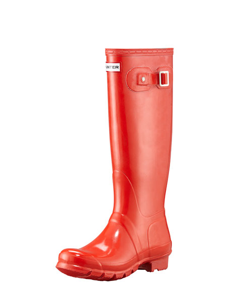 Original Tall Glossy Welly Boot, Vermillion