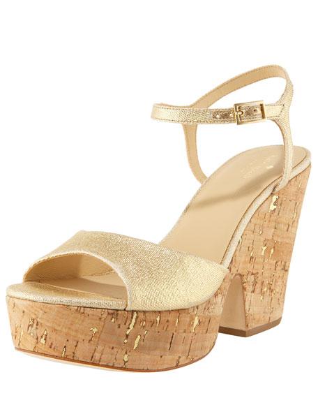 cork platform sandal