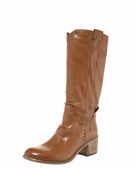 Soft Leather Knee Boot