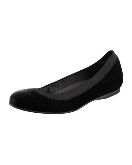 Velvet Ballerina Flat