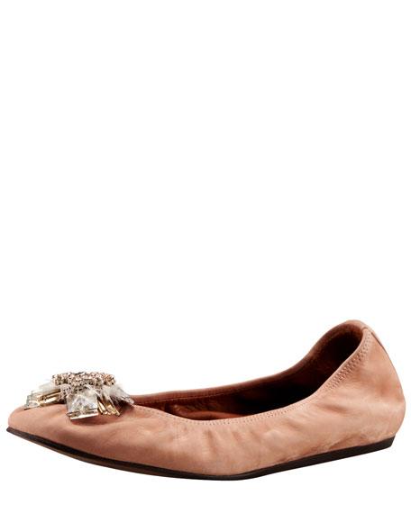 Bejeweled Ballerina Flat