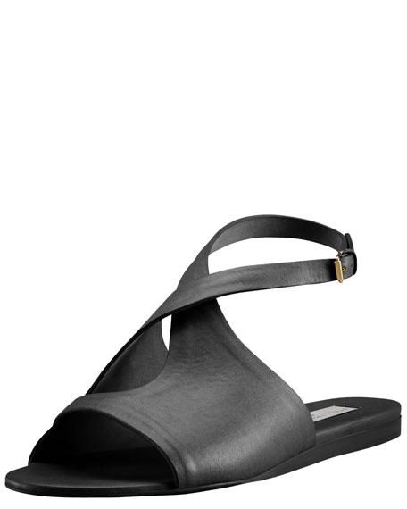 Ankle-Wrap Flat Sandal