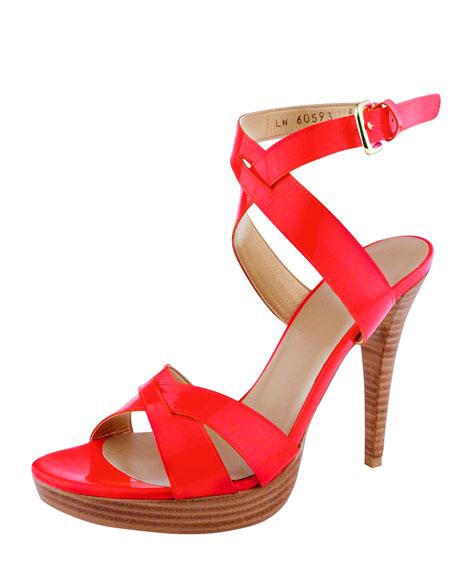 Neon Ankle-Strap Sandal