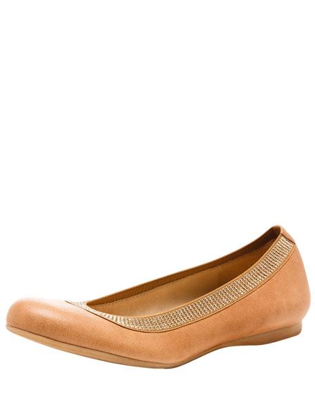 Bead-Trim Ballerina Flat