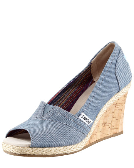 Serena Chambray Wedge