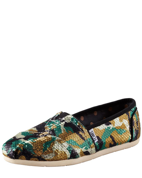 Maston Camouflage Sequin Slip-On