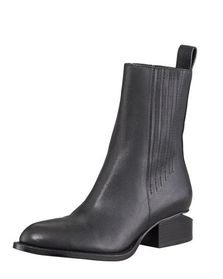 Anouck Lift-Heel Chelsea Boot