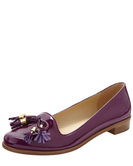 cassy patent leather tassel loafer