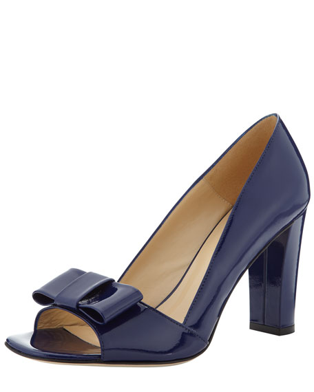 marie bow-toe pump