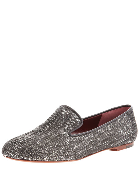 Brushed Sequin Slip-On Loafer