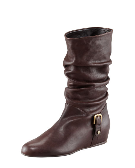 Rugerio Ruched Boot with Inside Wedge