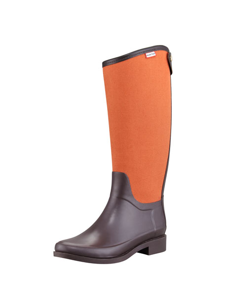 Bessy Bi-Fabric Back-Zip Rain Boot