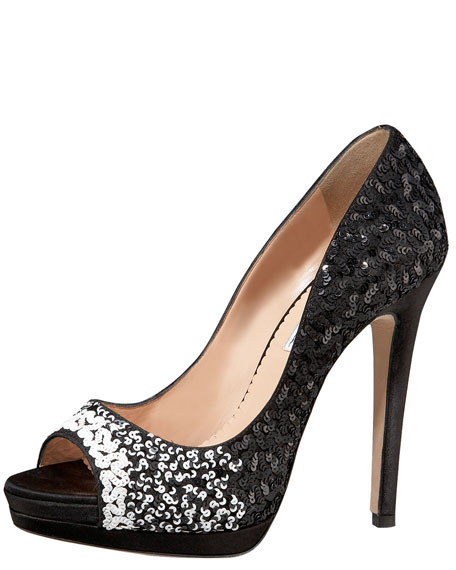 Satin Sequin Pump