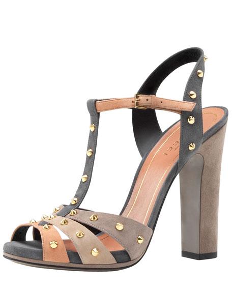 Studded Suede Sandal