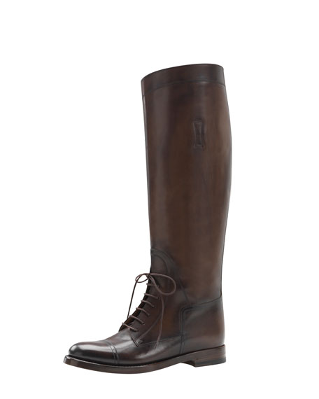 Tall Lace-Up Riding Boot