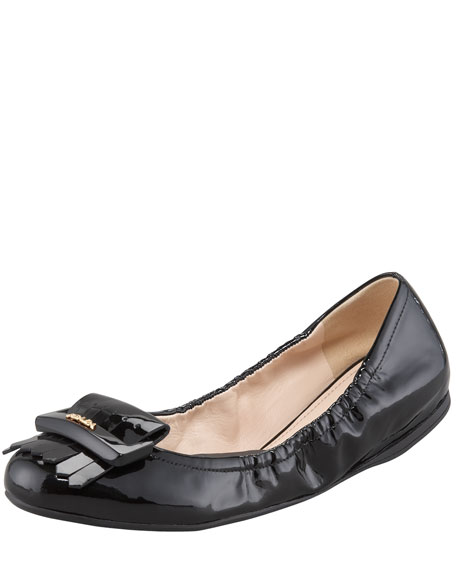 Patent Leather Fringe Ballet Flat