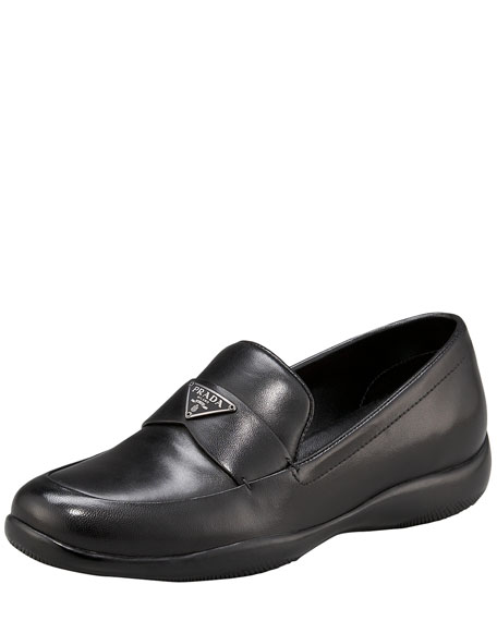 Classic Leather Triangle Logo Loafer