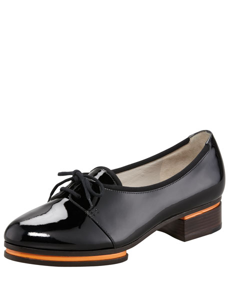 Patent Low-Heel Oxford