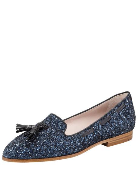 Tasseled Glitter Loafer